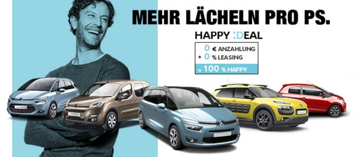 Die Citroen Happy Deals Leasen ab 99€