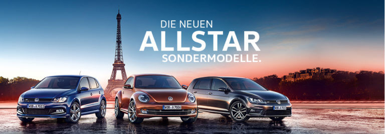 DIe Volkswagen Sondermodell im Sparneuwagen Schnäppchencheck