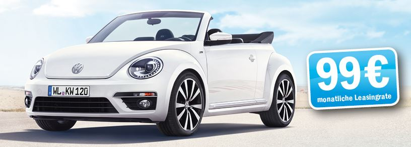 vw beetle allstar cabrio leasing f r 182. Black Bedroom Furniture Sets. Home Design Ideas
