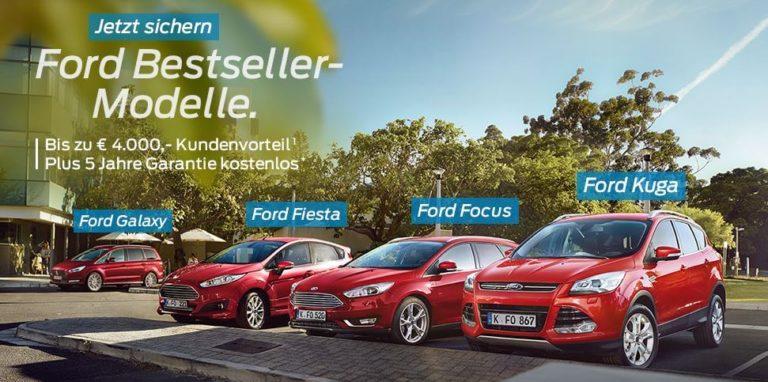 Ford Bestsellermodelle