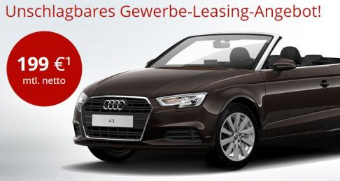 audi a3 cabrio leasing neues modell gewerbe privat. Black Bedroom Furniture Sets. Home Design Ideas