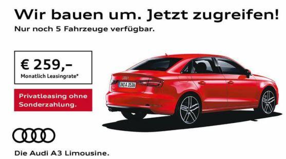 audi a3 limousine | privatleasing für 259,-€ - sparneuwagen.de leasing