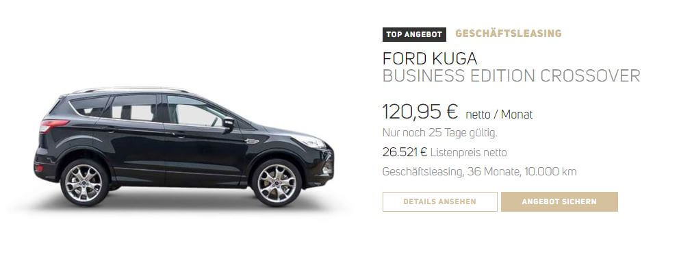 ford kuga leasing vehiculum leasing. Black Bedroom Furniture Sets. Home Design Ideas