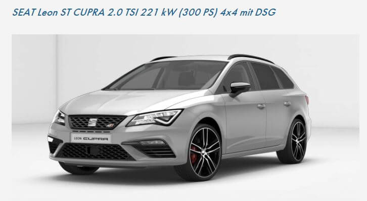 seat leon cupra leasing gewerbe leasing. Black Bedroom Furniture Sets. Home Design Ideas