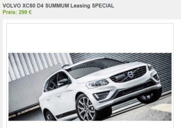 volvo xc60 leasing | ab 299,-€ / monat - sparneuwagen.de