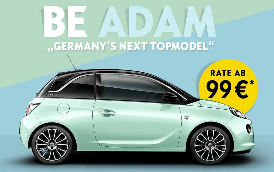 opel adam germany s next topmodel edition. Black Bedroom Furniture Sets. Home Design Ideas