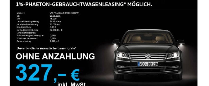 privat und gewerbekunden volkswagen phaeton 1 leasing. Black Bedroom Furniture Sets. Home Design Ideas
