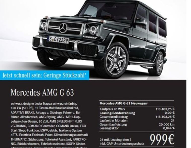 mercedes amg leasing aktion auto bild idee. Black Bedroom Furniture Sets. Home Design Ideas