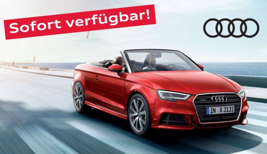 audi a3 cabrio leasing 239 pro monat. Black Bedroom Furniture Sets. Home Design Ideas