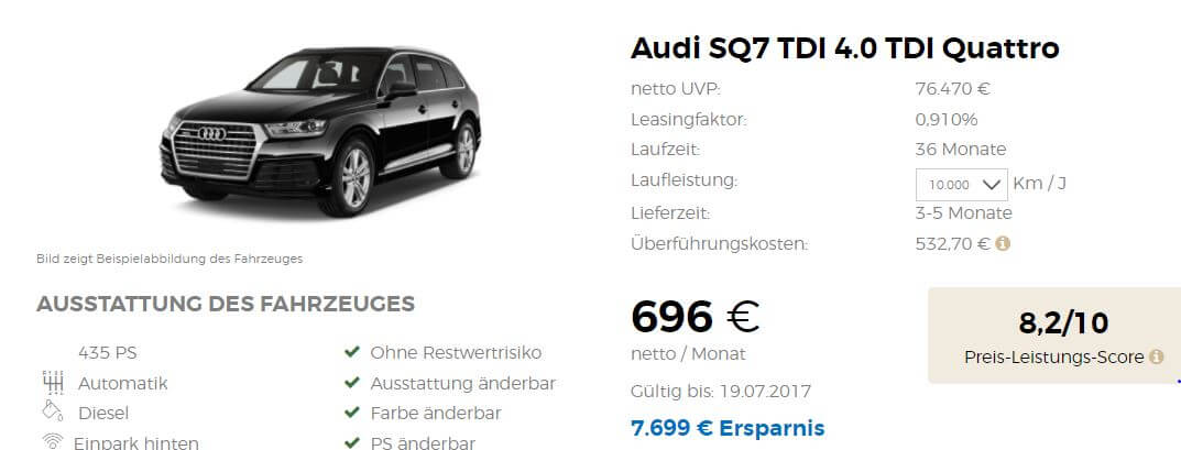 audi q7 und sq7 gewerbeleasing angebote. Black Bedroom Furniture Sets. Home Design Ideas