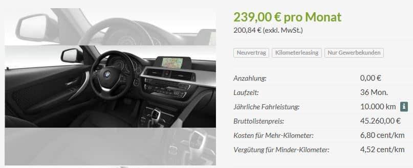 Bmw 318d Leasingknaller Für Privat Und Gewerbe Ab 200 Pro Monat
