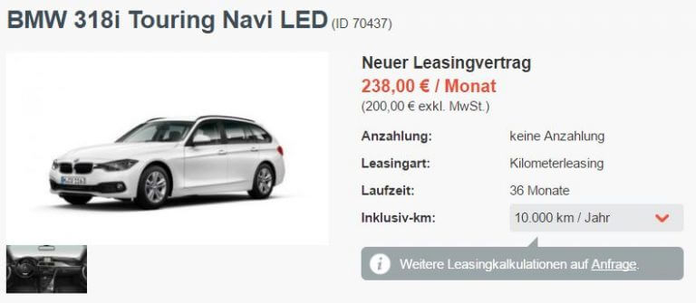 Audi a6 avant leasingrate