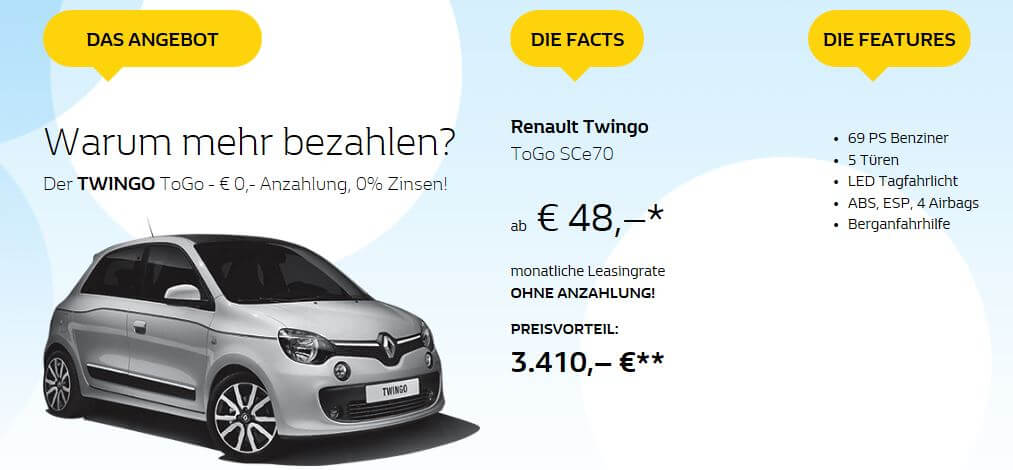 renault twingo leasing sce70 leasing. Black Bedroom Furniture Sets. Home Design Ideas