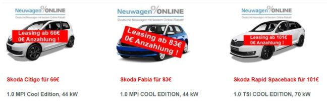 privatkunden skoda leasing angebote f r citigo fabia. Black Bedroom Furniture Sets. Home Design Ideas
