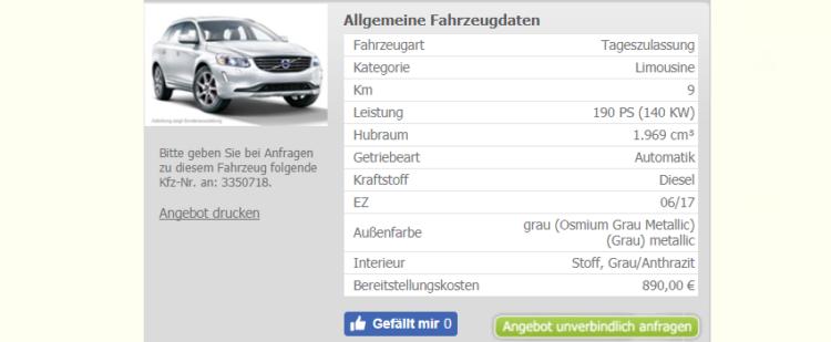 privat- und gewerbekunden | volvo xc60 altes modell leasing ab 289