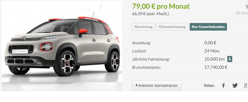 gewerbekunden der neue citroen c3 aircross im leasingangebot leasing. Black Bedroom Furniture Sets. Home Design Ideas