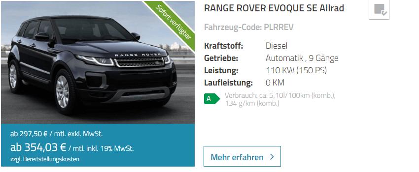 range rover evoque leasing leasing. Black Bedroom Furniture Sets. Home Design Ideas