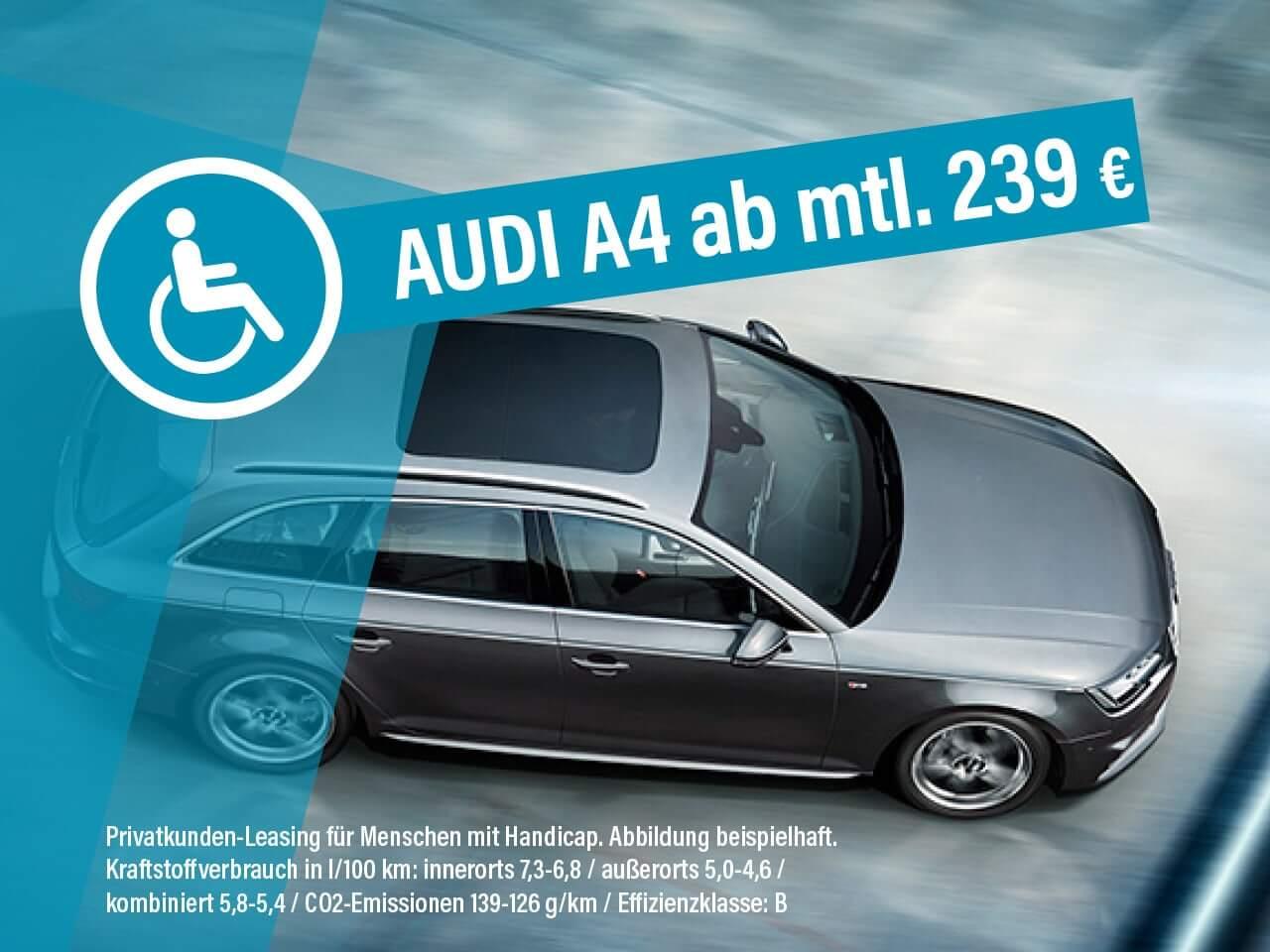 Audi A4 S4 Leasing Ab 239 Euro Im Monat Brutto Fur Menschen Mit Behinderungen Sparneuwagen De