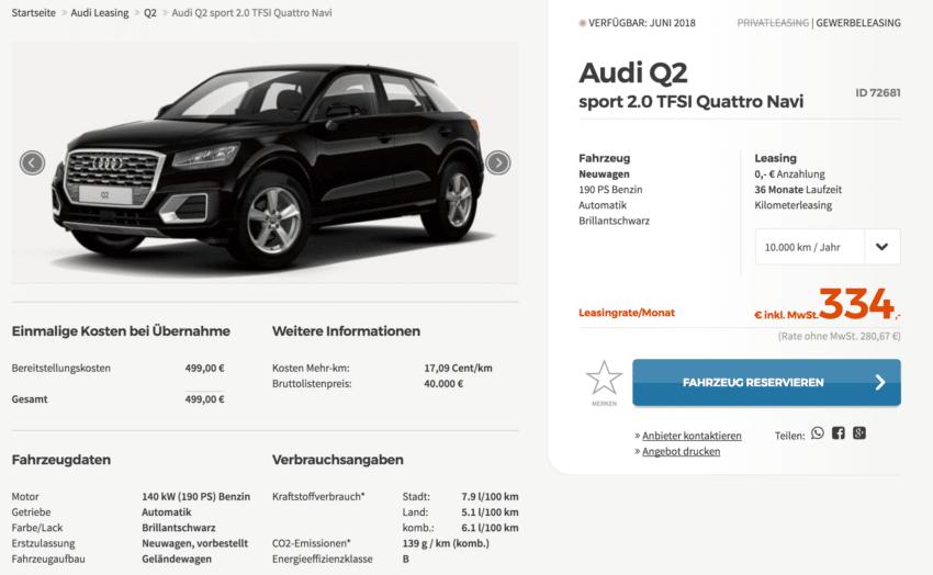 Audi q2 quattro leasing 10