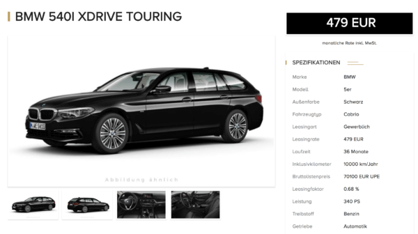 bmw 5er touring details leasing. Black Bedroom Furniture Sets. Home Design Ideas
