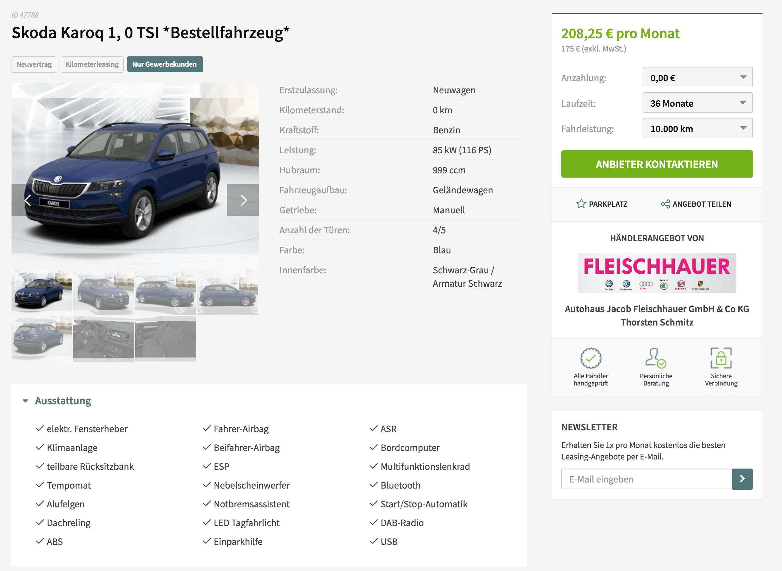 skoda karoq leasing f r 175 euro im monat netto. Black Bedroom Furniture Sets. Home Design Ideas