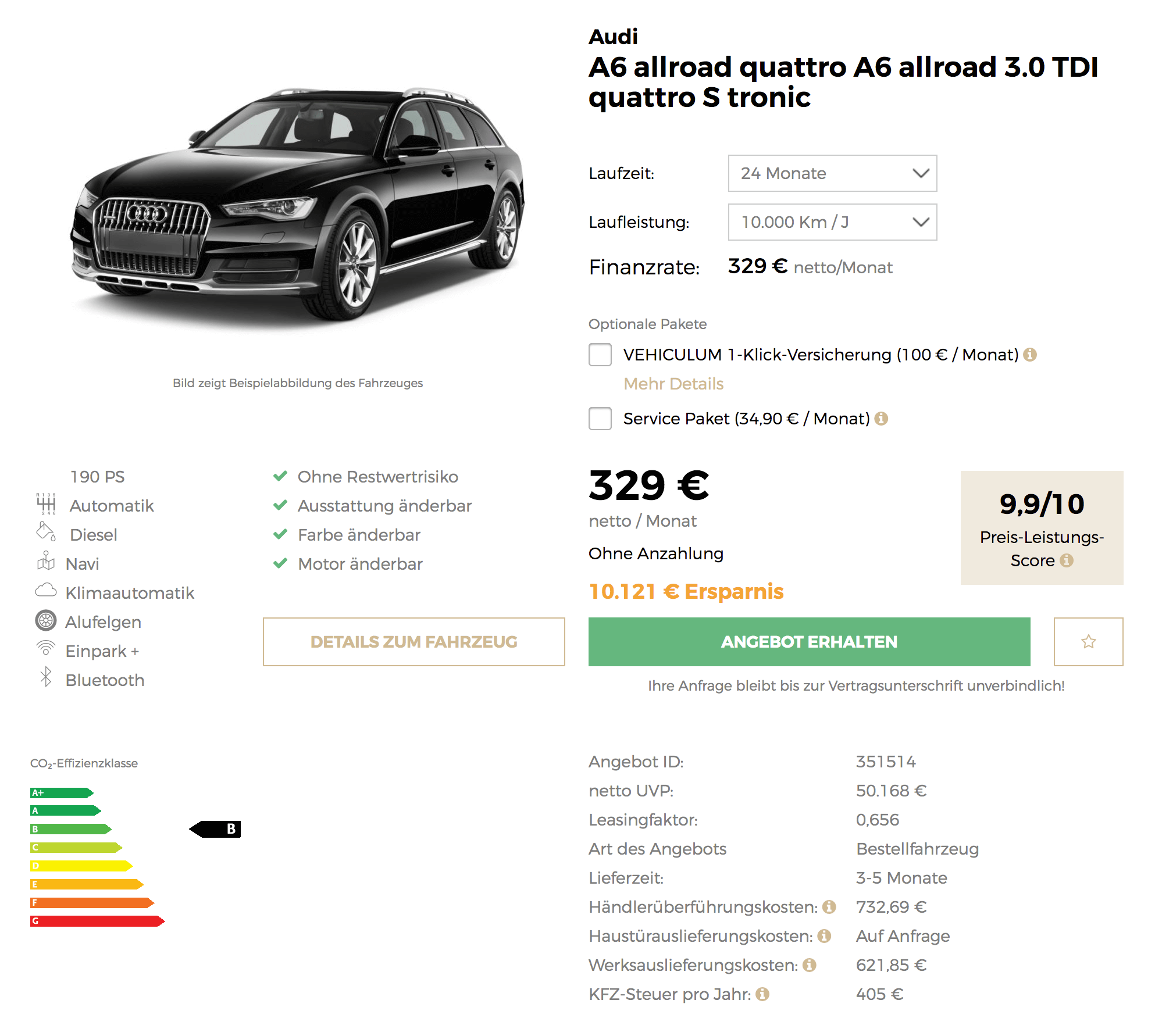 hot audi a6 allroad quattro leasing f r 329 euro im monat. Black Bedroom Furniture Sets. Home Design Ideas