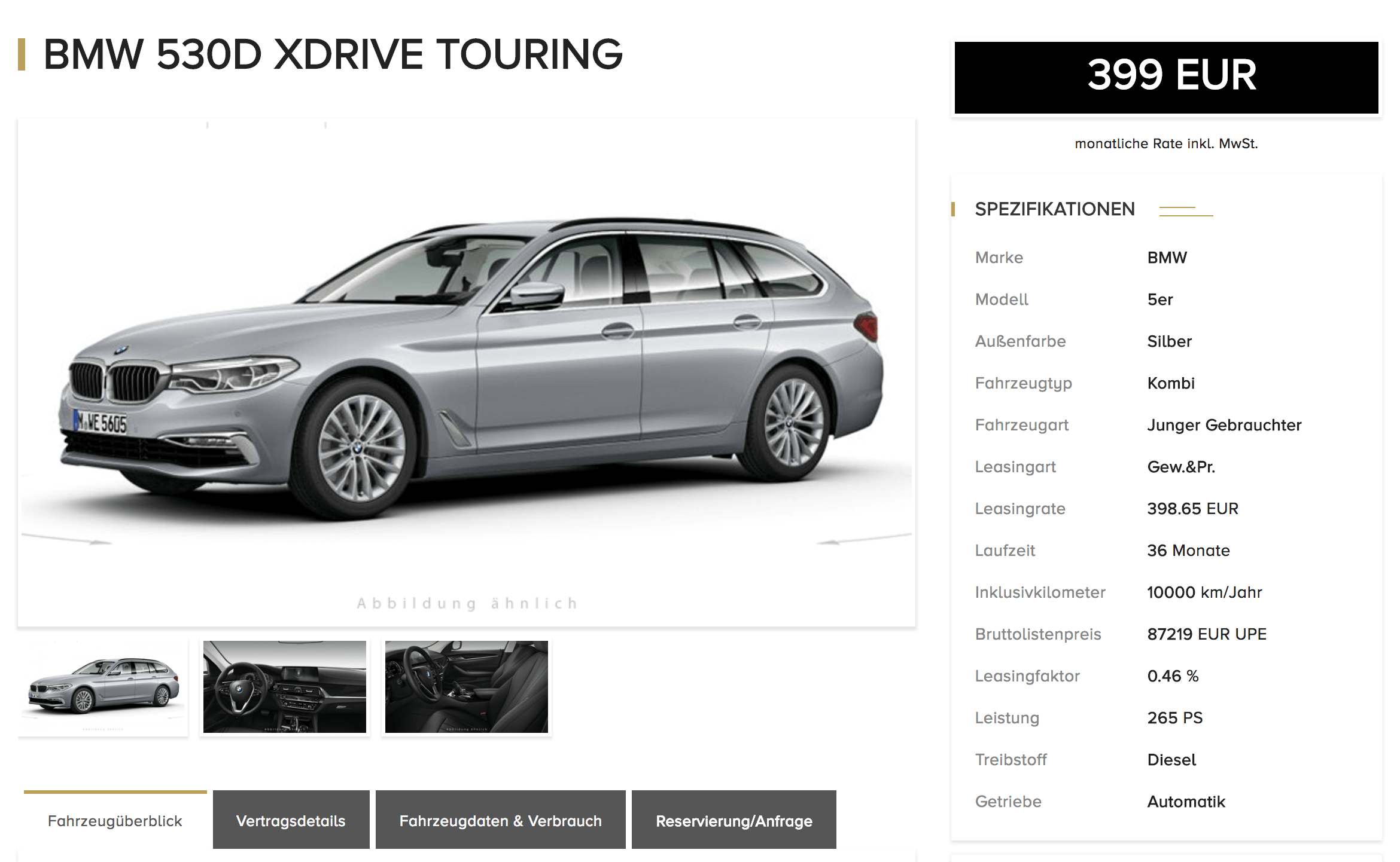 bmw 530d xdrive touring leasing ab 392 euro im monat brutto jahreswagen. Black Bedroom Furniture Sets. Home Design Ideas