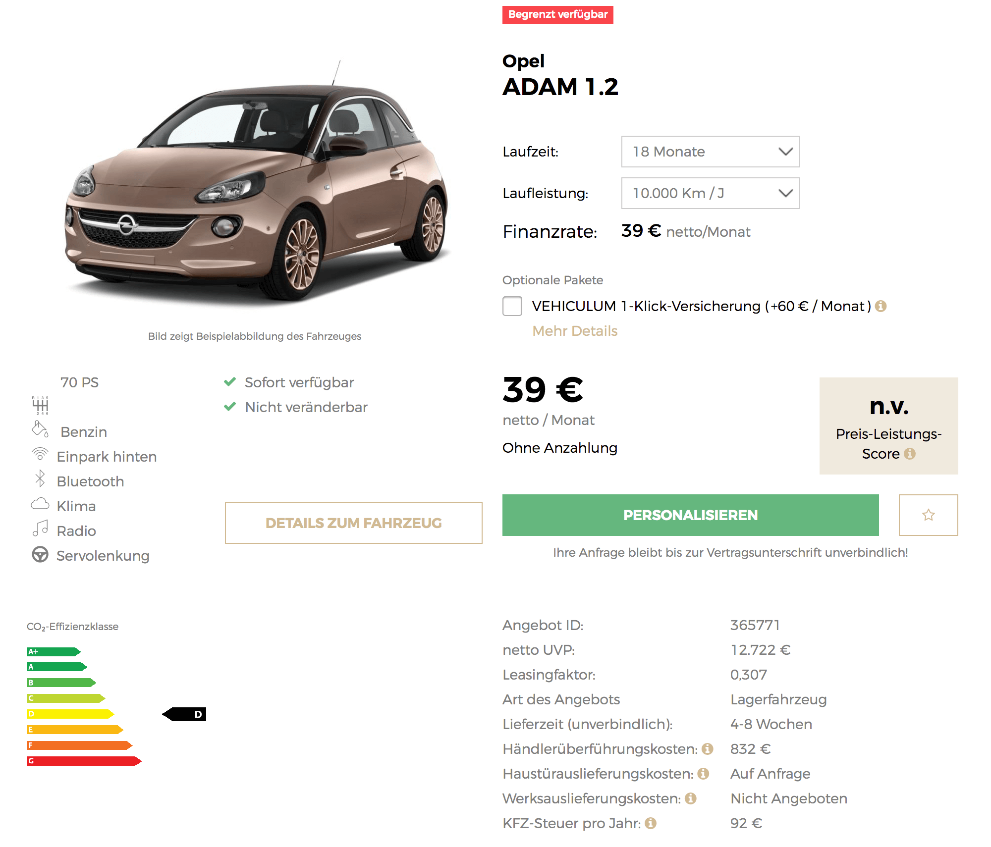 hot opel adam jam leasing f r 39 euro im monat netto. Black Bedroom Furniture Sets. Home Design Ideas