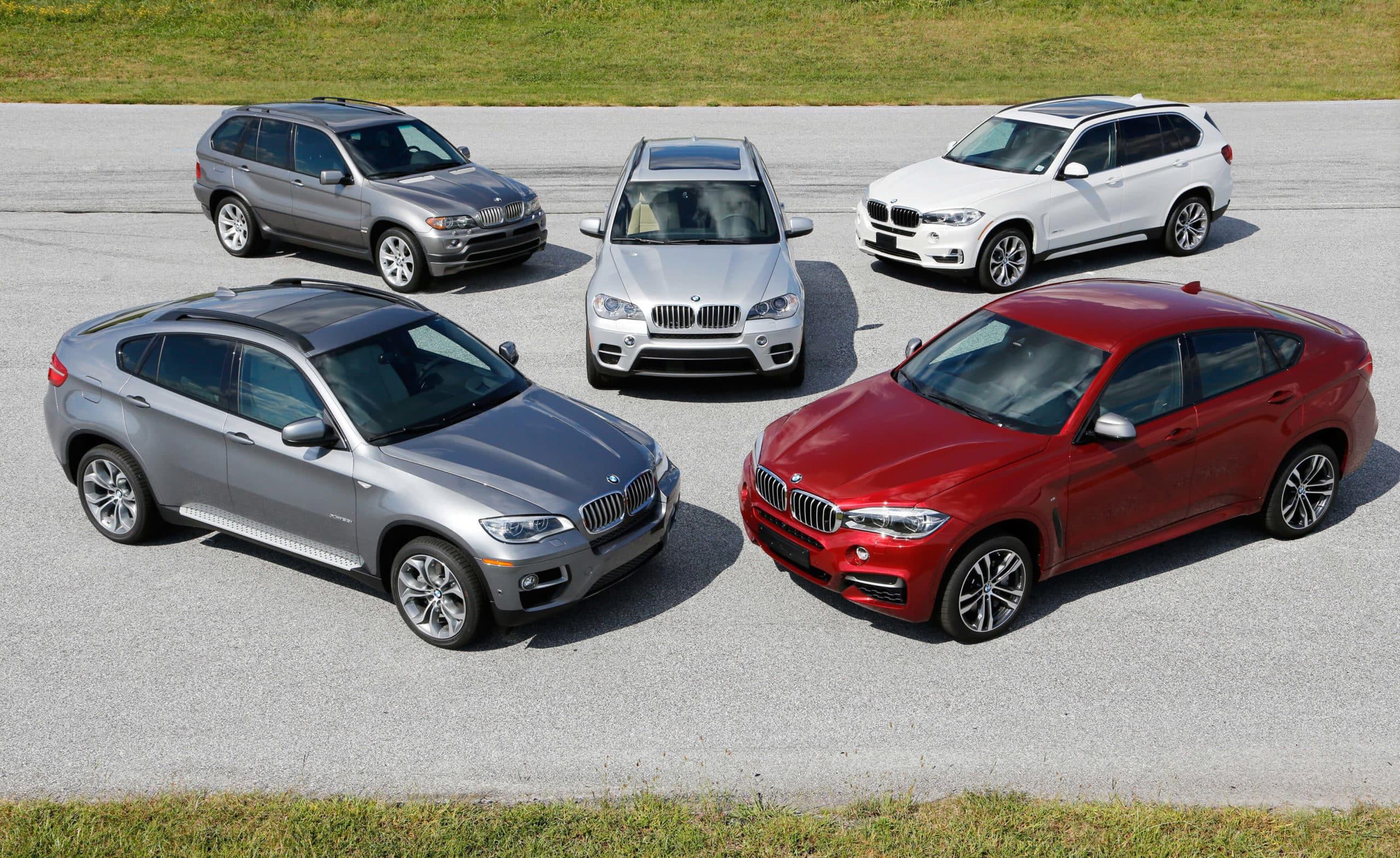 BMW X4, X5, X6