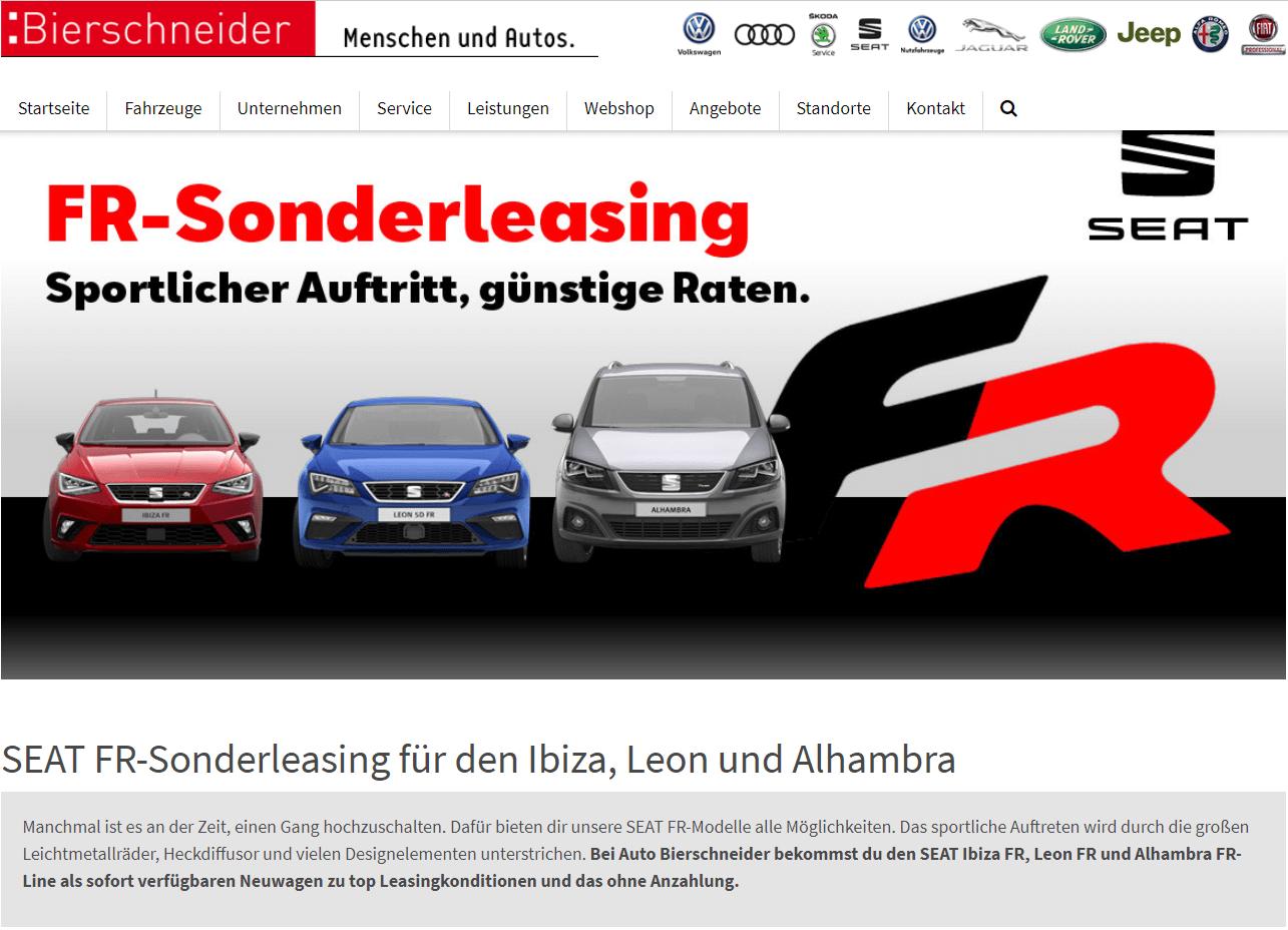 Seat FR-Sonderleasing