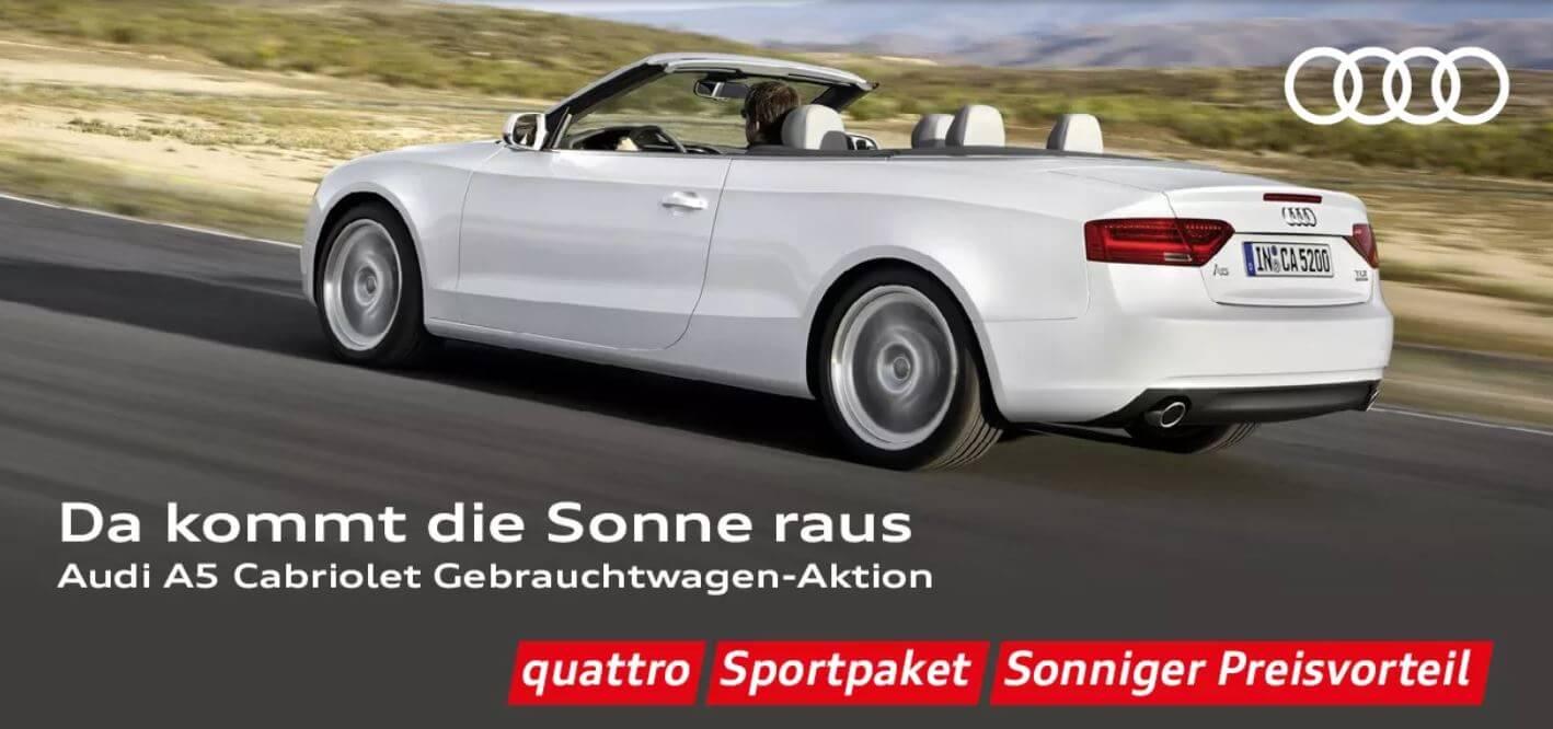 Audi A5 Cabrio Gebracuhtwagenaktion