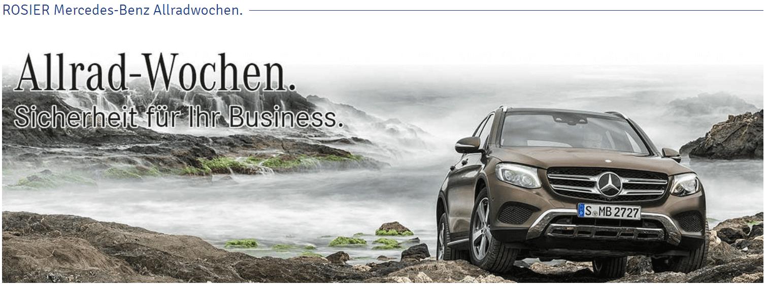Mercedes-Benz Allrad-Wochen bei Rosier