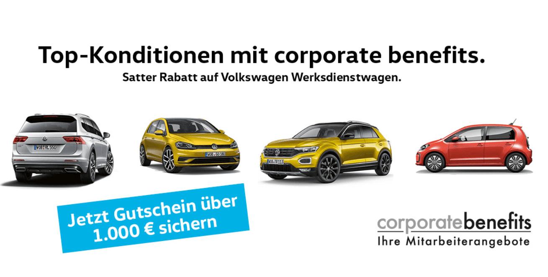 Volkswagen Werksdienstwagen corporate benefits Aktion
