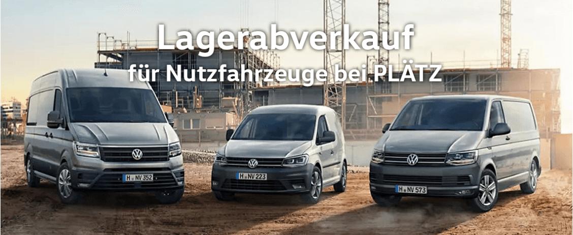 VW Nutzfahrzeuge Lagerverkauf bei Plätz