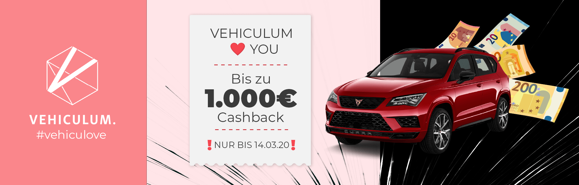 Valentinstags-Cashback-Aktion von Vehiculum