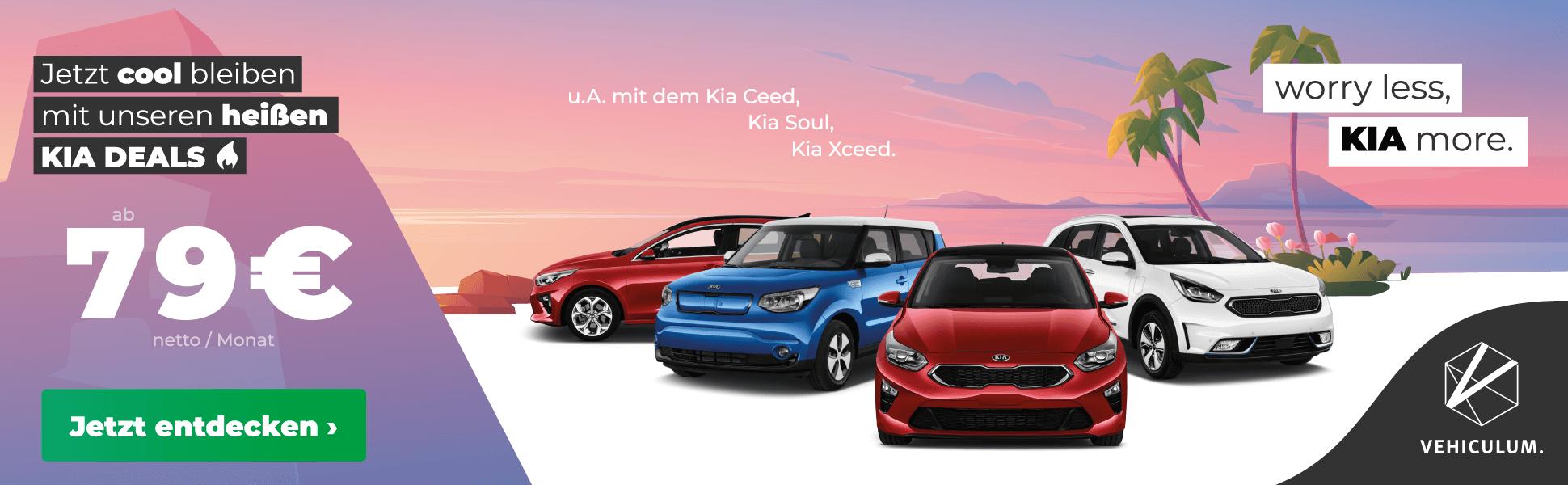 Kia-Gewerbe-Aktion bei Vehiculum