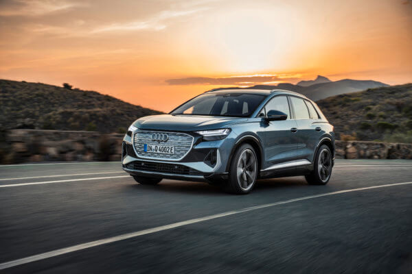 GRANATE! Audi Q4 e-tron Leasing für 444 (611) Euro im Monat netto [Neuwagen, BAFA, Camper+2 E-Bikes]